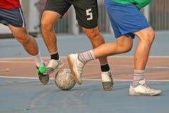 Straßen-Fußball stockfotografie