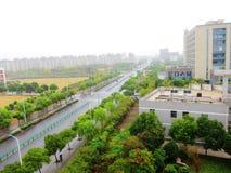 Straßen im Regen Stockfoto