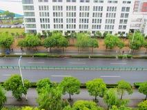 Straßen im Regen Lizenzfreies Stockbild
