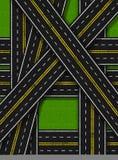 Straßen-Invasion-Vertikale stock abbildung