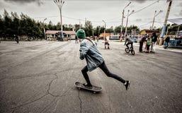 Straßen-Jugend-Hobbys Stockfotografie