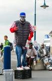 Straßen-Künstler führt in San Francisco, Kalifornien durch Lizenzfreies Stockbild