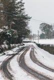 Straßen kaum verwendbar in der Zeit nach Sturm Emma, alias dem Tier vom Osten, der Irland Anfang März schlug Stockfoto