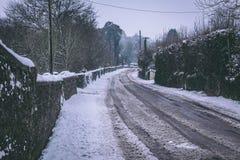 Straßen kaum verwendbar in der Zeit nach Sturm Emma, alias dem Tier vom Osten, der Irland Anfang März schlug Lizenzfreie Stockfotos