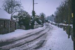 Straßen kaum verwendbar in der Zeit nach Sturm Emma, alias dem Tier vom Osten, der Irland Anfang März schlug Lizenzfreies Stockbild