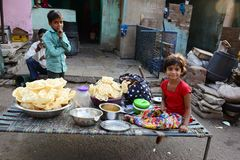 Straßen-Kinder Stockfoto