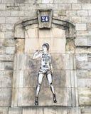 Straßen-Kunst auf der Seine Stockfotografie