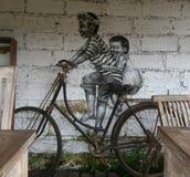 Straßen-Kunst Bali stockfoto
