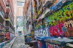 Straßen-Kunst in den Wegen Melbourne Lizenzfreie Stockfotografie