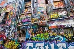 Straßen-Kunst in den Wegen Melbourne Stockfoto