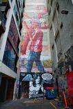 Straßen-Kunst in den Wegen Melbourne Lizenzfreie Stockfotos