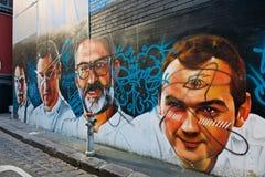 Straßen-Kunst in den Wegen Melbourne Stockfotografie