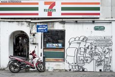 Straßen-Kunst in Georgetown auf Penang-Insel stockbilder