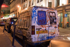 Straßen-Kunst in Paris stockbild