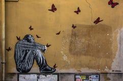 Straßen-Kunst in Rom Stockbild