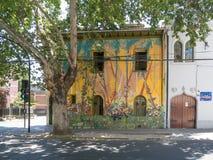 Straßen-Kunst in Santiago de Chile Stockfotos