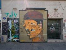 Straßen-Kunst in Santiago de Chile Stockbilder