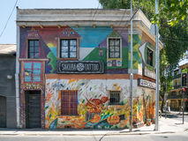 Straßen-Kunst in Santiago de Chile Stockfotografie