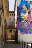 Straßen-Kunst, Tudela Stockfoto