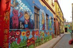 Straßen-Kunst in ValparaÃso Stockfoto