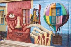 Straßen-Kunst von Valparaiso Stockfotos