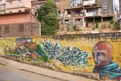 Straßen-Kunst von Valparaiso Stockfotografie