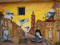 Straßen-Kunst von Valparaiso Stockfoto