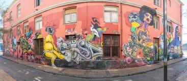 Straßen-Kunst von Valparaiso Stockbild