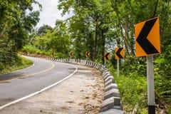 Straßen-Kurve steil stockfotos