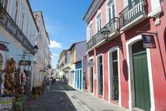 Straßen-Leben Pelourinho Salvador Brazil Lizenzfreie Stockbilder