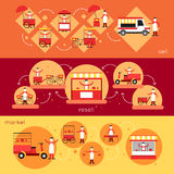 Straßen-Lebensmittel-Fahne Lizenzfreies Stockbild