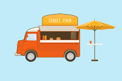Straßen-Lebensmittel-LKW Lizenzfreies Stockfoto
