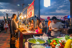 Straßen-Lebensmittel-Verkäufer Lizenzfreies Stockbild