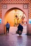 Straßen in Marrakesch Medina stockfoto