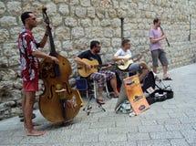 Straßen-Musiker Dubrovnik Lizenzfreies Stockbild