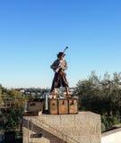 Straßen-Musiker, führend in Jerusalem durch Lizenzfreies Stockbild