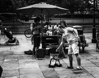 Straßen-Musiker in New Orleans, Louisiana Stockfoto