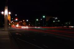 Straßen nachts Lizenzfreie Stockfotografie