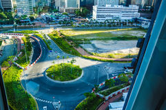 Straßen nahe Hong- Kongbeobachtungs-Rad Lizenzfreie Stockbilder