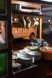 Straßen-Nahrungsmittelverkäufer in Jogjakarta stockfotografie