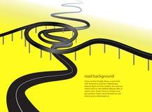 Straßen- oder Landstraßenbegriffshintergrund lizenzfreie abbildung