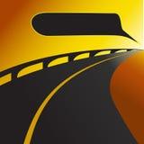 Straßen- oder Landstraßenhintergrund lizenzfreie abbildung