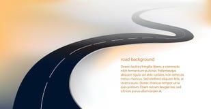 Straßen- oder Landstraßenhintergrundvektor Stockfotos