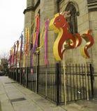 Straßen-Parade Liverpool-Chinesischen Neujahrsfests Stockfotografie