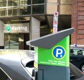 Straßen-Parken-Messinstrument Stockfotos