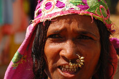 Straßen-Porträt von Goan-Frau Stockfoto