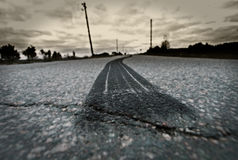 Straßen-Reifen Burnout stockbild