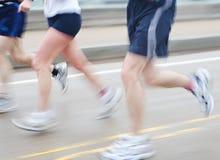 Straßen-Rennläufer-Wannen-Unschärfe Stockbilder