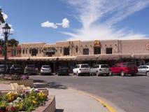 Straßen-Säulengang in Taos-New Mexiko USA Stockfotos