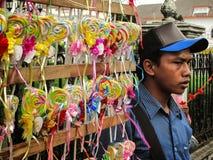 Straßen-Süßigkeits-Verkäufer Lizenzfreie Stockfotos